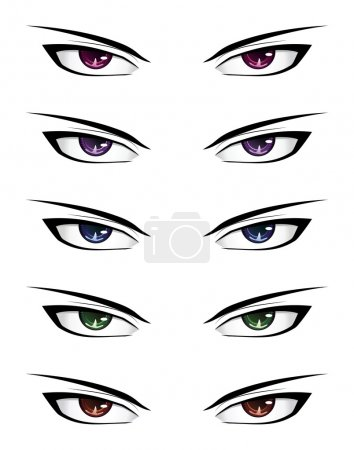 Anime male eyes