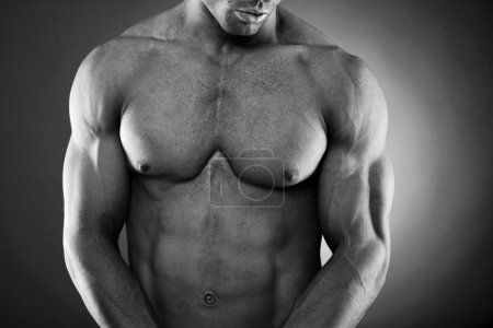 Handsome fit and muscular man