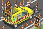 Izometrické silniční pomoci van