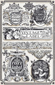 Detailed illustration of a Vintage Hand Drawn Graphic Banners and Label