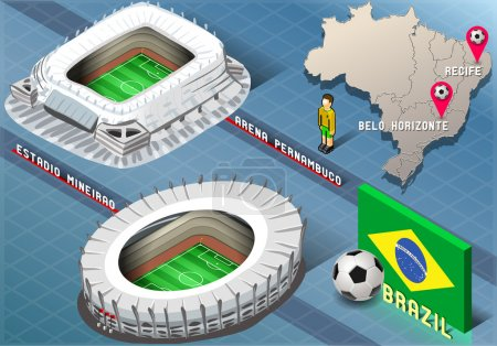 Isometric Stadium of Recife and Belo Horizonte, Brazil