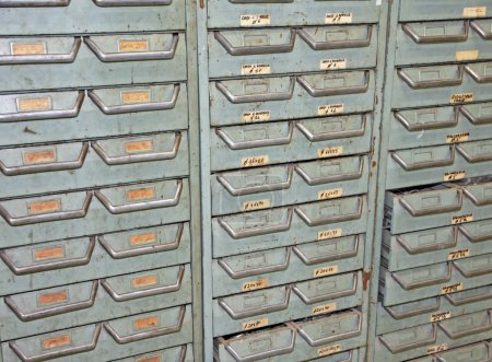 Huge chest of a hardware store where I put nails s...