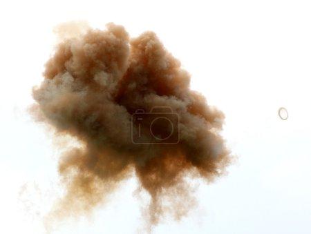 Photo pour Formes abstraites de nuages et de fumée et épaisse fumée dans le ciel 1 - image libre de droit