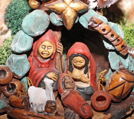 Nativity scene with Holy Family in South American version 2