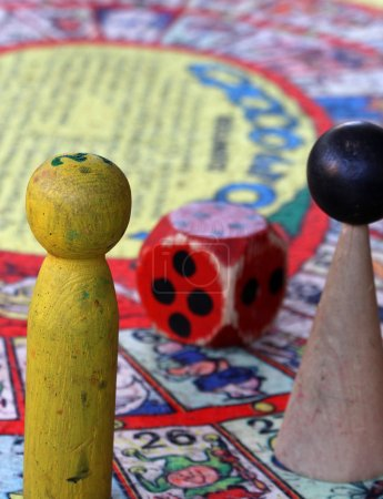 snakes and ladders with giant nut and two stones