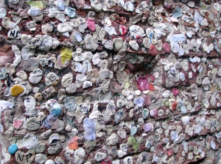 chewing gum wall of love