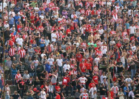VICENZA, VI, ITALY - april 06 fans during a football game in the