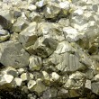Rock with mineral PYRITE crystals or gold just fou...