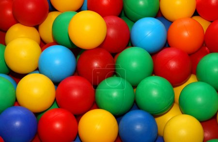 colored balls for play fun in a swimming pool