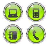 Lesklý e-commerce ikony