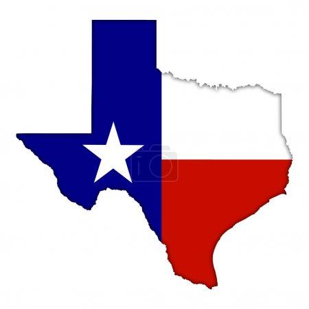 Texas flag map icon...