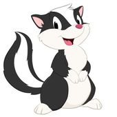 Cartoon skunk Isolated object for design element