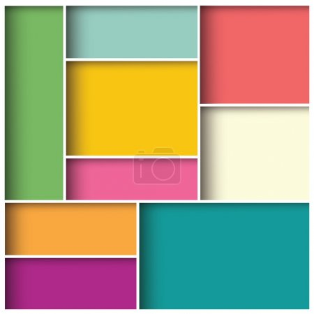 Illustration for Abstract 3d square background, colorful tiles, geometric, vector illustration - Royalty Free Image