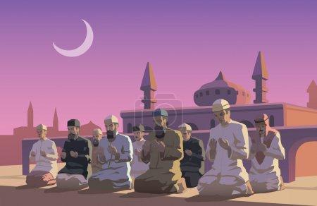 Illustration pour Une illustration du Ramadan - image libre de droit