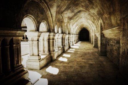 Abbaye de Fontenay archway retro vintage
