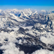 Постер, плакат: Himalaya Everest mountain range panorama