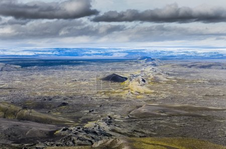Scenic view of volcanic landscape in Iceland