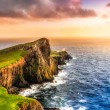 Colorful ocean coast panoramic sunset at Neist poi...