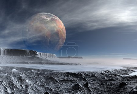Photo pour 3d rendu fantasme exotique planète - image libre de droit