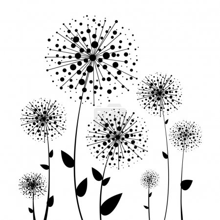 Illustration pour Pissenlit vecteur floral abstrait - image libre de droit