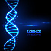 Abstact background Neon DNA chain