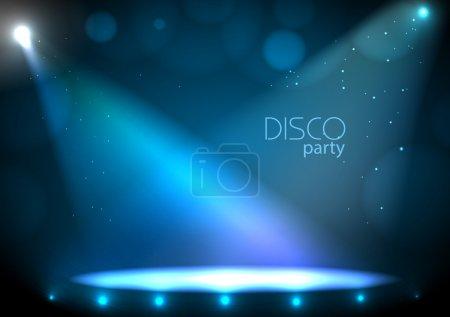 Illustration pour Contexte disco - image libre de droit