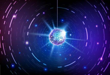 Illustration pour Fond de balle disco - image libre de droit
