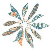 Decorative ornamental ethnic feathers