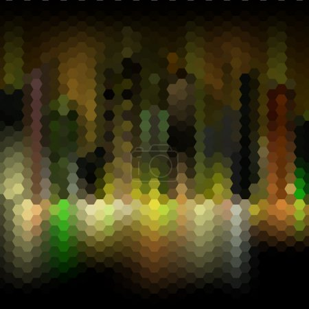 Night city abstract mosaic background
