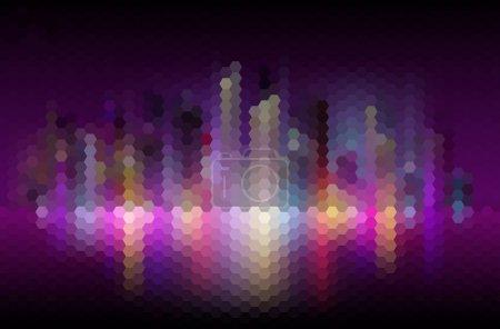Illustration pour Nuit ville abstraite mosaïque fond - image libre de droit