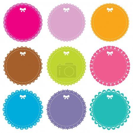 Cute circle frames set