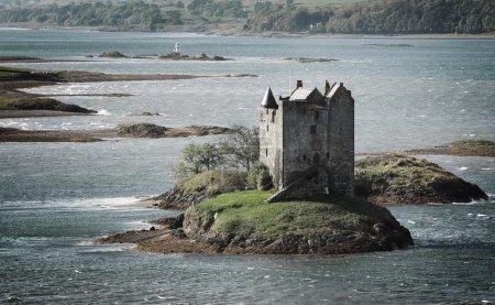 Photo for Beautiful view of Stalker castle in Highlands, Scotland, UK. - Royalty Free Image