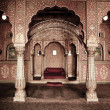 Beautiful ornemanted indian room at Bikaner, Rajas...