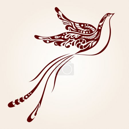 Illustration for Decorative bird - Royalty Free Image