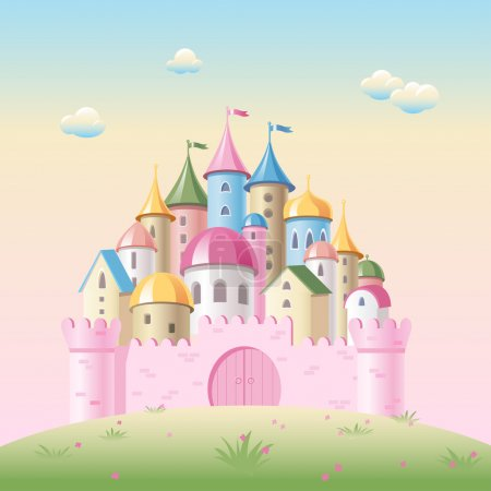 Cartoon fairy tale castle...