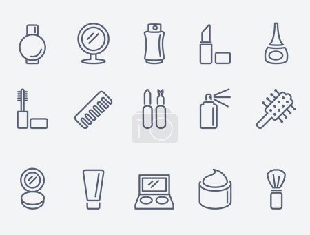 Illustration for Cosmetic icons - Royalty Free Image