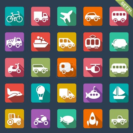 Illustration for Transport icons - Royalty Free Image