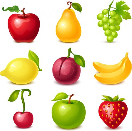 Illustration for Fruit set - Royalty Free Image