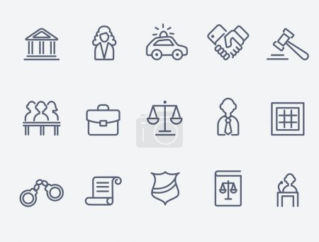 Law icons...
