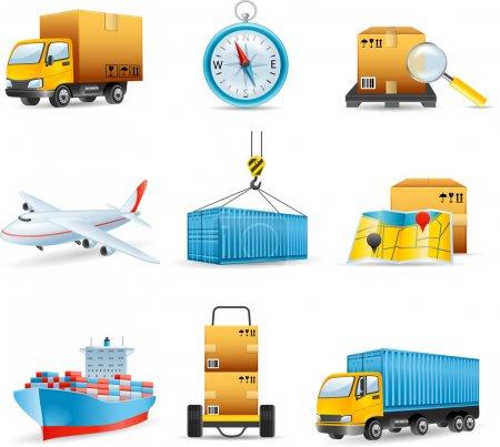 Ilustración de Iconos de logística - Imagen libre de derechos
