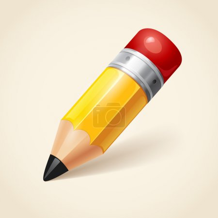 Illustration for Pencil icon - Royalty Free Image