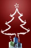 Candle light and christmas tree