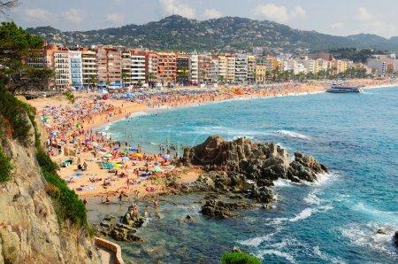 View of Lloret de Mar seashore. Spain....