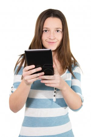 Woman using a tablet pc