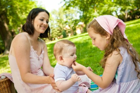 Real moments - mother with children