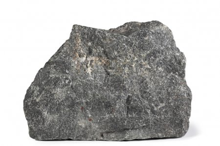Fragment of granite on a white background....