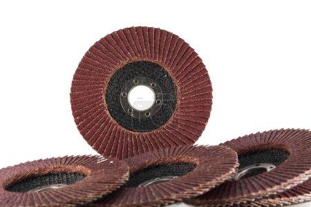 Abrasive flap discs.