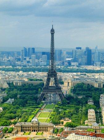Photo pour Paris ville vue aérienne de la tour montparnasse. France. - image libre de droit