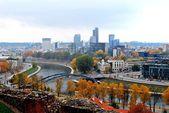 Vilnius autumn panorama from Gediminas castle
