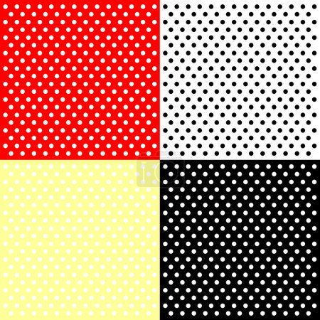 Illustration for Four polka dots backgrounds - Royalty Free Image